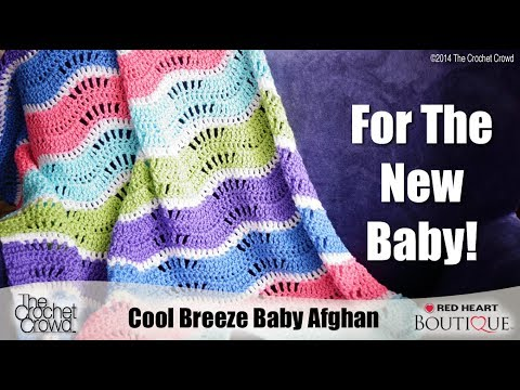 Baby Wave Afghan Crochet Tutorial