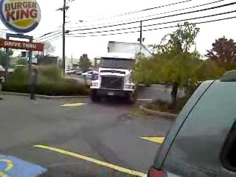 Pulling a Trailer with Locked Brakes into Burger King