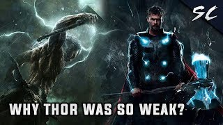 3 Reasons Why Thor was so weak in Avengers Endgame | Explained In Hindi