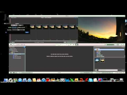 How to make a time lapse with iMovie