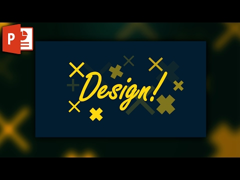Quick poster or pattern design in powerpoint ✔