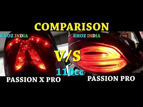 NEW HERO PASSION XPRO VS PRO 110 cc COMPARISON