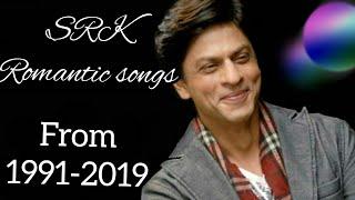 BEST ROMANTIC SONGS OF SHAHRUKH KHAN 1991-2019   EVERGREEN HITS