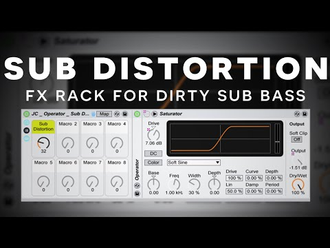 Ableton Tutorial: Operator Sub Bass Distortion via Saturator