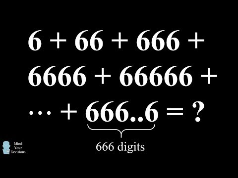 Genius Trick For A Devilishly Hard Math Problem - Sum Of 6s Puzzle