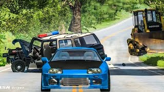 EPIC POLICE CHASES #9 - BeamNG Drive Crashes