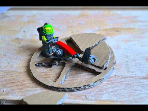 Legomen constructing a flywheel