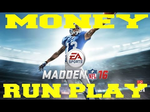Best Madden 16 Greatest Unstoppable Run Play Money Play How To : Trick Play