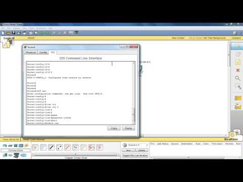 telnet remote access to Cisco router using packet tracer