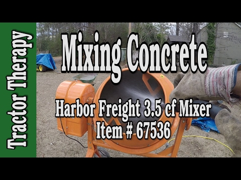 Harbor Freight 67536 Cement Mixer Overview and Action