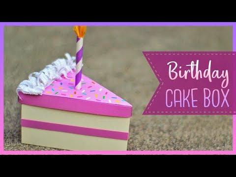 How To Make A Birthday Cake Slice Box   DIY Gift Box