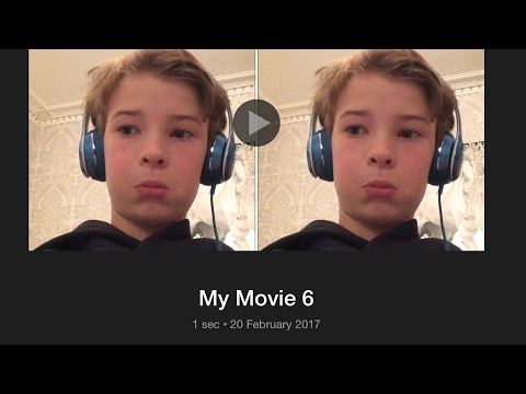 How to get to videos split screen in one video on iMovie ios