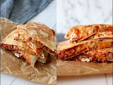 Easy Quesadillas With Meatsauce And Cheese - By One Kitchen