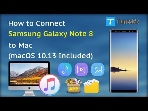 How to Connect Samsung Galaxy Note 8 to Mac (macOS 10.13 Included)