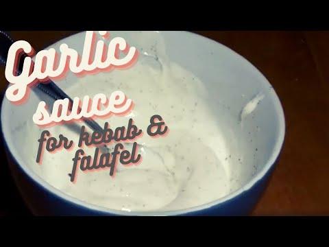 Garlic Greek Yogurt Dressing for Döner Kebab - How To Make a Garlic Dressing - Recipe #52
