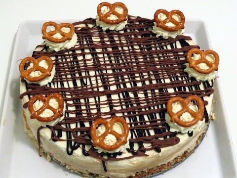 No Bake Caramel Pretzel Cheesecake   CupcakeGirl