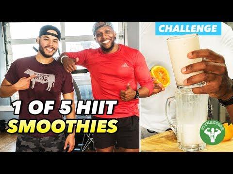 HIIT Smoothie Challenge 1: Justtrain & Orange Vanilla Protein Smoothie