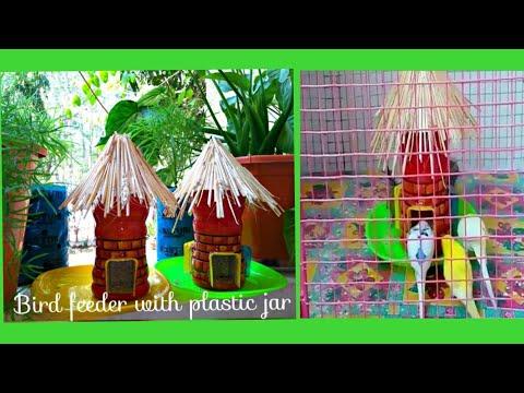 How To Make Bird Feeder With (Bournvita jar) Plastic Bottle