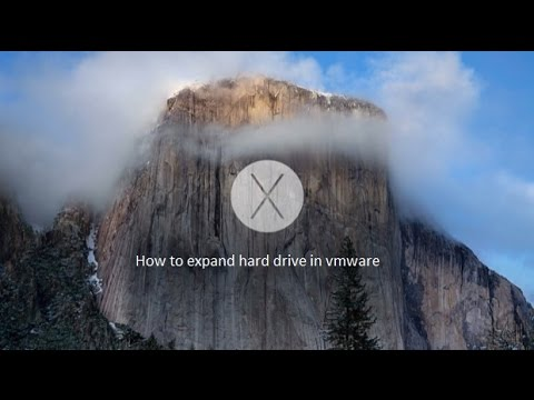 How to expand hard drive in vmware OS X
