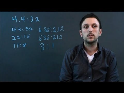 How to Simplify a Ratio Involving Decimals : Math Conversions