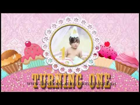 Baby Girl Birthday Whatsapp Invitation
