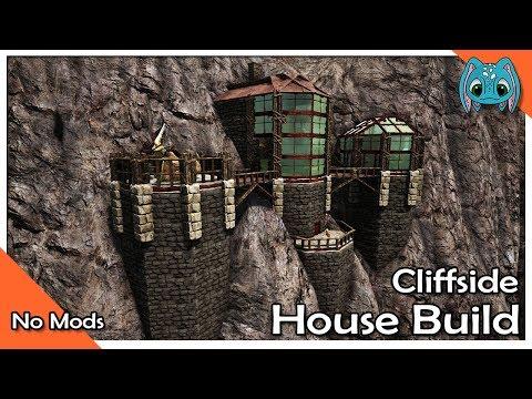 ARK: Building w/ Fizz :: Small Cliffside House Build!! (NO Build Mods)