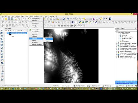 QGIS 2.18.6: Extract contour data from DEM