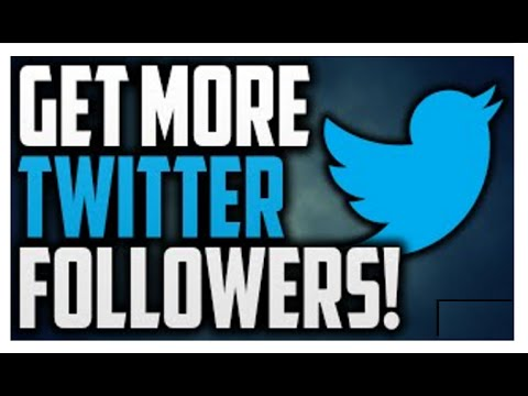 How To Get More Followers On Twitter!