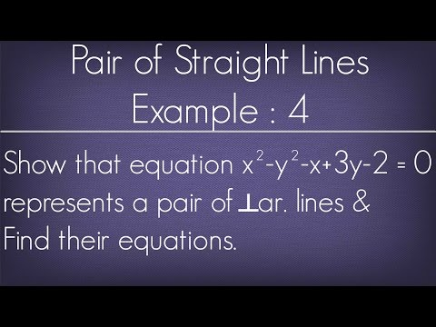 Pair Of Straight Lines Example - 4 l Maths Geometry