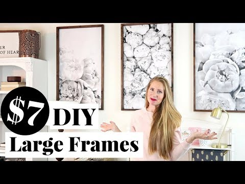DIY Engineer Print Frame only $7 EACH! | Decorating on a Small Budget