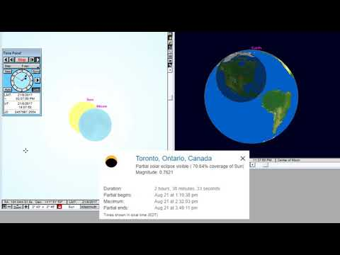 Toronto - Animation of the Total Solar Eclipse August 21, 2017