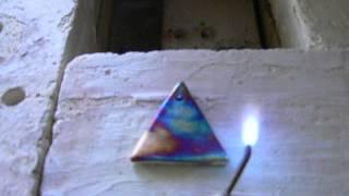Copper Matte Raku Using Copper Carbonate And Torch