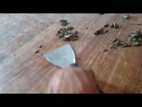 How to clean glue of wood floor the best way