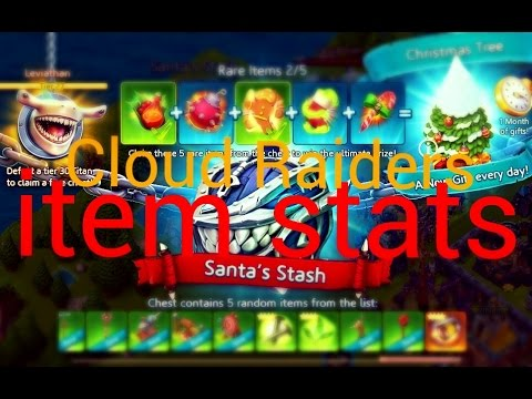 Cloud Raiders all items & stats
