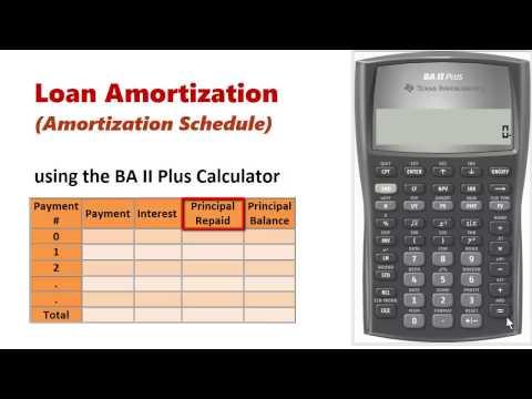 Amortization Schedule using BA II Plus
