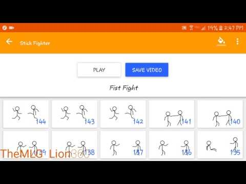 How to make Stickman animations with the free app Stick Fighter