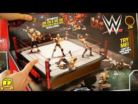 WWE Elite RAW Main Event Ring with EXCLUSIVE Goldberg Toy Playset Unboxing, Construction & Review!!