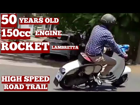 Rocket Old Lambretta Scooter 150 Model Of Original Old Engine On Road Owner Rider Ramesh Vizag City