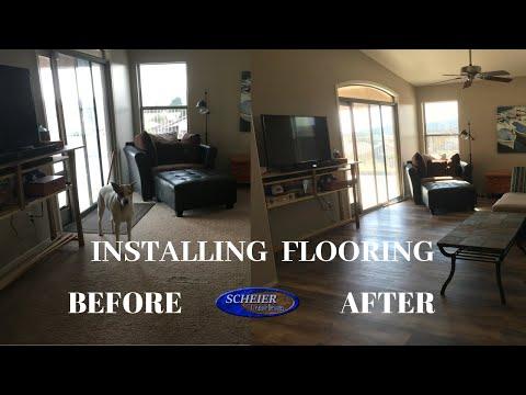 HOME IMPROVEMENT | Laminate Flooring Install | DIY | Vinyl Flooring