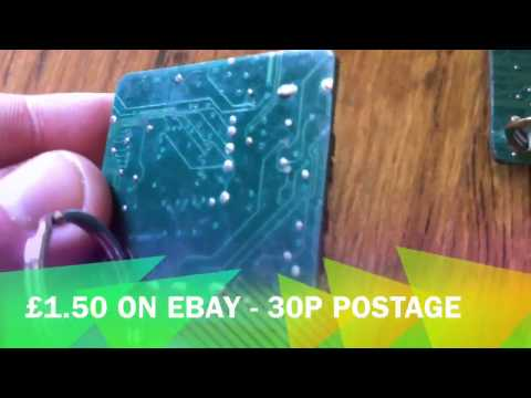 Recycled Circuit Board Keyrings for Sale