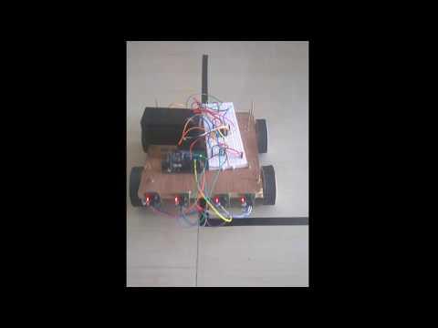 Simple Autonomous line following robot