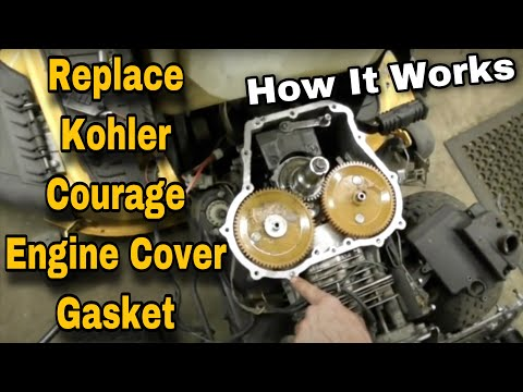 How To Replace The Engine Cover Gasket On A Kohler Courage - with Taryl