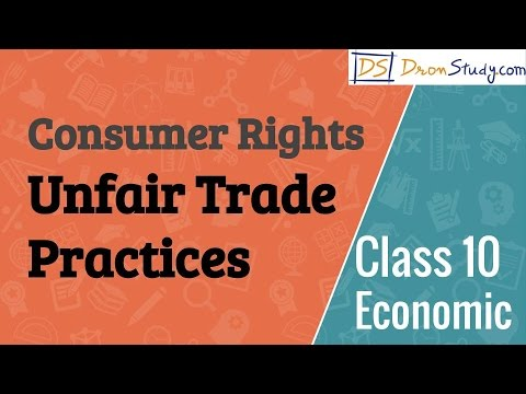 Unfair Trade Practices - Consumer Rights  : CBSE Class 10 X Economics