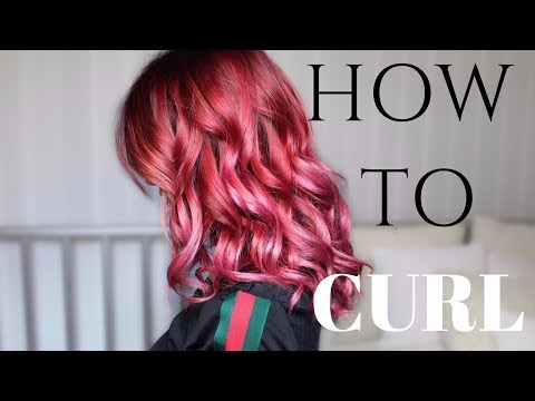 How to curl Hair with a Straightener | Stella