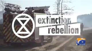 Geo News Special –Extinction Rebellion protests in Leeds for climate change awareness