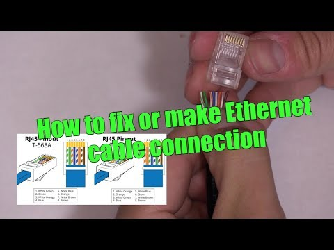 HOW TO MAKE / FIX ETHERNET NETWORK CAT5e CAT6 CABLE WIRE RJ45 CONNECTION