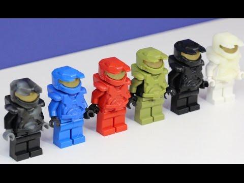 Custom LEGO Halo Armor: X39BrickCustoms Mark 5 Halo Armor NEW Colors!