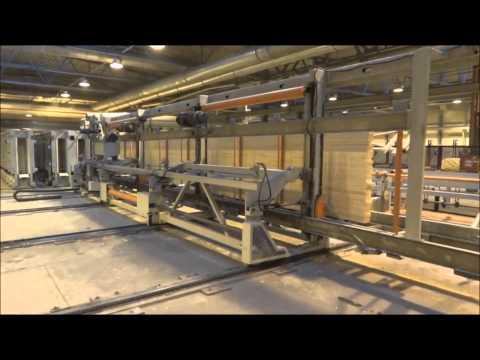 Glulam Beam Processing Line-1 by Doucet Machine