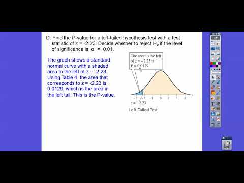 Hypothesis Testing for the Mean (S.D.  Known) - Section 7.2 (Part 1)