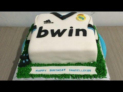 Jersey Real Madrid Cake Fondant Icing